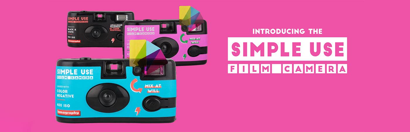 Lomo Simple Use fotoaparat za večkratno uporabo na film - 3 PACK