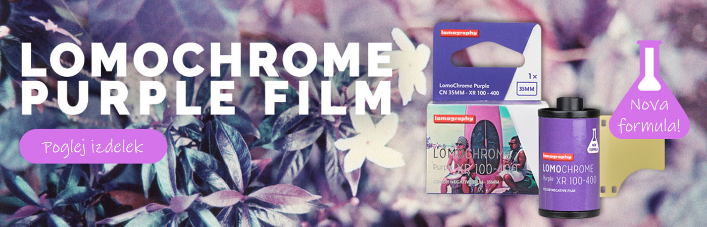 Lomography Chrome Purple XR 100-400 35mm film