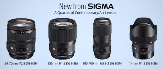 Sigma 14mm f1.8 DG HSM ART ter 24-70mm f2.8 DG OS HSM ART